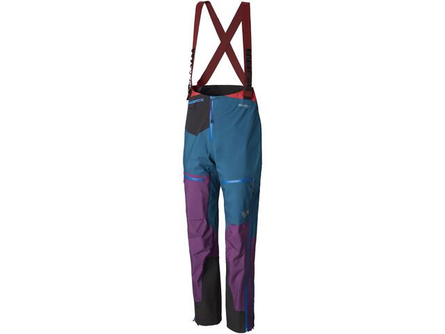 Mountain Hardwear Exposure/2 Gore-Tex Pro Culotte largo con tirantes Mujer, cosmos purple